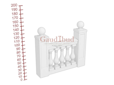 Palace balustrade B242-241