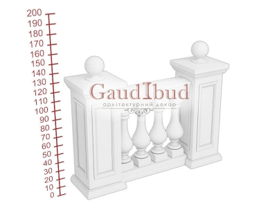 Palace balustrade B121-121
