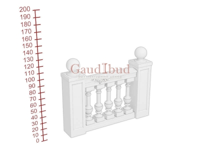 Palace balustrade B232-341