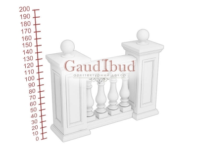 Palace balustrade B111-121