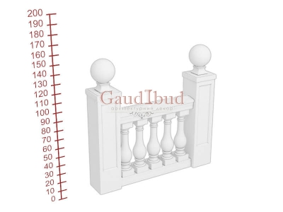 Palace balustrade B242-243