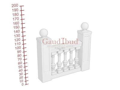 Palace balustrade B232-241