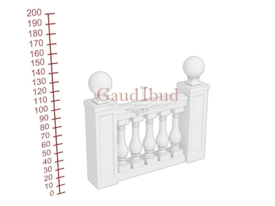 Palace balustrade B242-343
