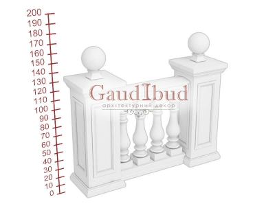Palace balustrade B111-123