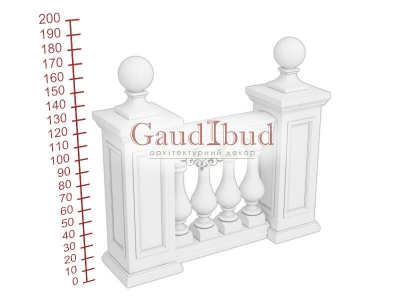 Palace balustrade B121-124